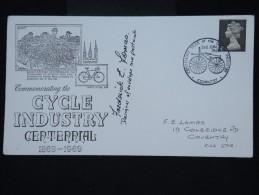 GRANDE BRETAGNE - Enveloppe Souvenirdu Centenaire De L' Industrie Du Cycle En 1969  - à Voir - P8736 - 1952-.... (Elizabeth II)