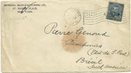 LETTRE FLAMME DRAPEAU DE NEW YORK EN 1899 - Poststempel