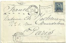 LETTRE FLAMME DRAPEAU DE NEW YORK EN 1905 - Poststempel