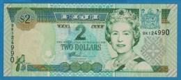 FIJI 2 Dollars ND (2002)  SERIE BK  P# 104  Elizabeth II  UNC - Fidji