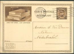 EP Carte Illustrée 10 N°18 - 40 Centimes KEPI Vue LIEGE PONT AERIEN Obl.  BRUXELLES 1 Du 17-IX-1931 Vers Nederbrakel - 1 - Illustrat. Cards