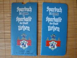 Altes Sparbuch Der Sparkasse Der Stadt Uelzen, Beginnend 1934, Mit Einigen Eintragungen Und Papphülle! - Schecks  Und Reiseschecks