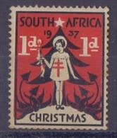 SOUTH AFRICA/SUID-AFRIKA:1937:Vignette/Cinderella:CHRISTMAS,NOËL,CHILD,ENFANT, CHRISTMAS TREE,ARBRE De NOËL,BIENFAISANCE - Non Classés