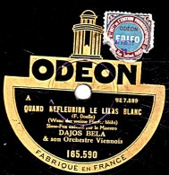 78 Trs 25 Cm état B -  DAJOS BELA - QUAND REFLEURIRA LE LILAS BLANC - JEANNINE - 78 Rpm - Schellackplatten