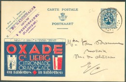 EP Carte Illustrée 50 Centimes LION Publible (1) Vue OXADE Cie LIEBIG Citronnade Orangeade Obl. Sc  NEDERBRAKEL  Vers Ne - Enteros Postales