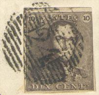 N°1 V26 - Epaulette 10 Centimes Brune (à Peine Touchée En Haut à Droite) Sinon Bien Margée Avec Variété V.26 (position 1 - 1849 Epaulettes