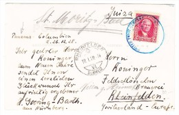 Panama 26.12.1928 AK Panama Canal In Paraiso Nach Rheinfelden Schweiz - Panama