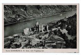 4910   Cpa  Ruine SCHÖNBURG B. St. Goar , Vom Flugzeug Aus    ACHAT DIRECT !!! - Oberwesel