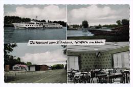 4917     Cpa Restaurant Zum Fährhaus , GREFFERN Am Rhein  , Multivues - Allemagne