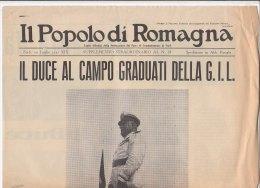 C1811 - GIORNALE FASCISTA - IL POPOLO DI ROMAGNA Forlì 1941 - IL DUCE AL CAMPO GRADUATI DELLA G.I.L. - Riviste & Giornali