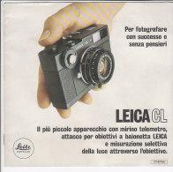 C1819 - Brochure MACCHINA FOTOGRAFICA LEICA CL - Macchine Fotografiche