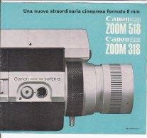 C1820 - Brochure CINEPRESA CANON SUPER 8 ZOOM 518 - Proiettori Cinematografiche