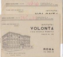 C1821 - CALCOLI MATEMATICA - REGOLO CALCOLATORE ISTITUTO VOLONTA' - ROMA - Matematica E Fisica