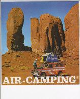C1830 - Brochure Illustrata TENDA CAMPEGGIO AUTOMOBILE - AIR-CAMPING Anni '60/TRANS AFRICAN TOUR/FIAT 500 - Transporto