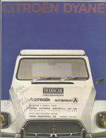 C1831 - Brochure illustrata CITROEN DYANE anni '60