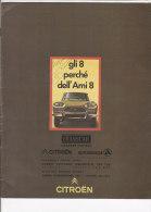 C1832 - Brochure illustrata CITROEN AMI 8 anni '60