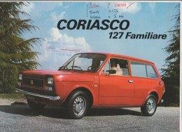 C1833 - Brochure illustrata AUTO FIAT 127 FAMILIARE CORIASCO anni '70