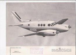 C1839 - AVIAZIONE - FOTOGRAFIA CON SCHEDA CARATTERISTICHE TRANSAIR  - AEREI BEECHCRAFT MOD.KING AIR - Écorchés (schémas)