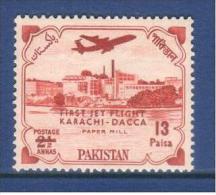 Pakistan 1961 Karachi-Dacca Jet Flight 13p. - Pakistan