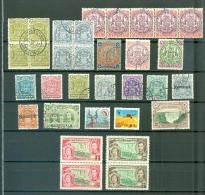 Rhodesia Area Lot Of 30 With Multiples Most Cancelled Southern Rhodesia 1d No Gum 2d MNH WYSIWYG  A04s - Great Britain (former Colonies & Protectorates)