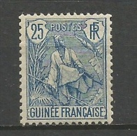 GUINEA FRANCESA YVERT NUM. 25 * - Guinea Francesa (1892-1944)