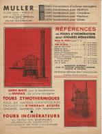 3 Feuillets Publicitaires Muller Fours 10 Cité D'Antin Paris 9e - Publicité