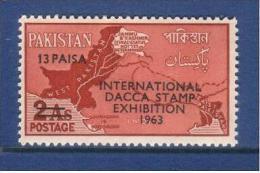 Pakistan 1963 Dacca Stamp Exhibition 13p. - Pakistan