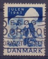 DANMARK:1943: Vignette/Cinderella - Travelled : CHRISTMAS,NOËL,JULPOST, BIENFAISANCE,CHARITY,HEALTH,T.B.C.,CHILD,ENFANT - Childhood & Youth
