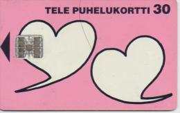 FINLAND PHONECARD VALENTINE DAY  1/96-50000pcs-D91-USED(2)