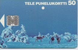FINLAND PHONECARD  ANIMALS  2/96-50000pcs-D93-USED(2)