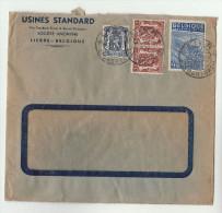 1949 BELGIUM Usines STANDARD DRUM & BARREL CO COVER Multi Stamps - Belgium