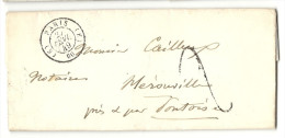 Paris - Bureau De Quartier E Pour Hérouville ( Seine Et Oise). LAC De 1849 - 1849-1876: Classic Period