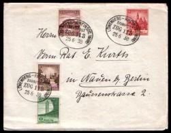 Germany Cover Bahnpost Zug # 113 Lowenberg - Rheinsbg. (mark), Stamps Breslau - Duitsland