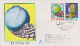 SAN MARINO 17.03.1988  EUROPA 88 - Lettres & Documents