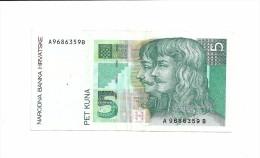 HRVATSKE--- BANKA --- 5 - Bankbiljetten