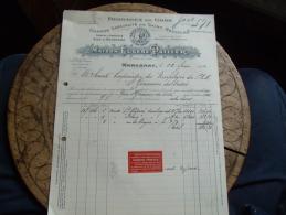 Ancienne Facture  Marcenat 15 Pailler Fromage Saint Nectaire - 1900 – 1949