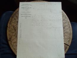 Ancienne Facture 1885 Bois D Amont Jura Fabrique Boite Sapin Lacroix - Frankreich
