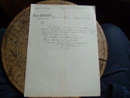 Ancienne Facture  Mignovillard Jura Alfred Rousseaux Tannerie - France