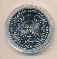 10 Euro Deutschland 2013 - 125 J. Heinrich Hertz - Silber PP / Spiegelglanz - Germany