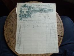 Ancienne Facture Illustree Villaines Societe Des Vanniers Vannerie - 1800 – 1899