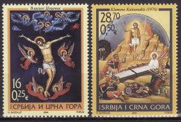 Serbia & Montenegro 2004. Easter, Icons, MNH(**) Mi 3190/91 - Serbie