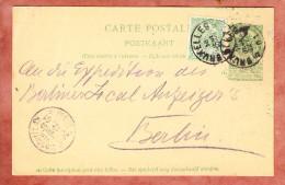 P 34 + Farbgleiche ZF Wappen, Bruxelles Nach Berlin, Bestellgangstempel Beamter 12, 1901 (78378) - Postkaarten [1871-09]