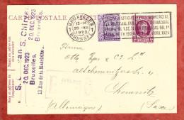 P 85 Koenig Albert + ZF, MS Bruxelles International Fair 1924, Nach Chemnitz 1923 (24540) - Ganzsachen
