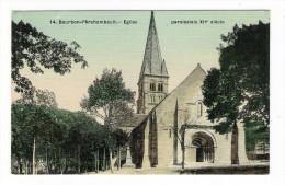 ALLIER  /  BOURBON-L' ARCHAMBAULT  /  EGLISE  PAROISSIALE  XIIème  Siècle  /  CPA  Colorisée Et Toilée  /  N° 14 - Bourbon L'Archambault