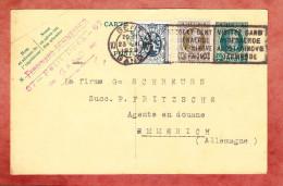 P 112 Koenig Albert + ZF, MS Gent Nach Emmerich 1929 (24542) - Ganzsachen