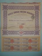 Ancienne Action De 100F NOUVELLE COMPAGNIE PARISIENNE METALLURGIQUE De 1920 - Unclassified