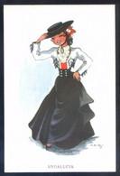 Ilustrador *M.R.G. - Andalucia* Ed. JBR - B. Serie Nº 60-4. Nueva. - Vestuarios