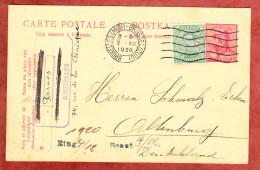 P 72 Koenig Albert + ZF, MS Bruxelles Nach Altenburg 1920 (24546) - Ganzsachen