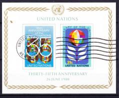 NATIONS  UNIES (New York)  BLOC ET FEUILLET 1980 YT N° BF 7 Premier Jour - New York – UN Headquarters