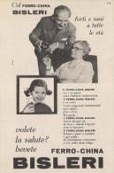 # FERRO-CHINA BISLERI 1950s Advert Pubblicità Publicitè Reklame Food Drink Liquor Liquore Liqueur Licor Alcohol Bebidas - Manifesti